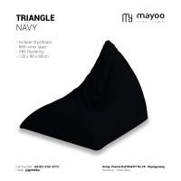 Jual Jual Triangle / Beanbag / Kursi Pantai / Lounge Chair - BLACK Murah