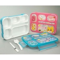 Lunch Box Yooyee 589 Grid 5 Sekat / Lunchbox Kotak Makan Bento Set