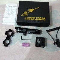 Jual laser scope nyala merah Murah