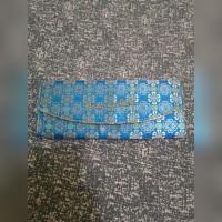 Jual Tas Clutch Pesta Cewek Biru Batik Bagus Murah Murah