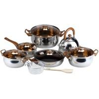 Jual Oxone OX-933 Eco Cookware Set Panci - Cokelat Murah
