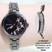 Jam tangan wanita premium LV louis vuitton grosir termurah permata
