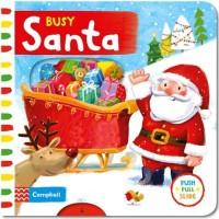 Jual Busy Santa - Push Pull Slide Board Book (CAMPBELL BOOK) Murah