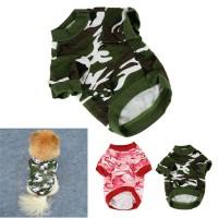 Baju Kaos T-Shirt Anjing Kecil Motif Army / Baju Anjing / Baju Army