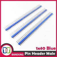 [CNC] PIN HEADER MALE STRIP SINGLE ROW 1X40 2.54MM BLUE BIRU