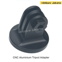 Jual CNC Aluminium Tripod Adapter Aksesoris GoPro Xiaomi Yi SJCAM - Hitam Murah