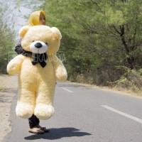 Boneka Beruang Jumbo Teddy Bear Krem 110cm harga murah 91da50de9f