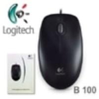Jual AQ4171 Mouse LOGITECH B100 USB RESMI Logitech KODE X4171 Murah