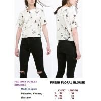 FRESH FLORAL BLOUSE. Made in Spain - FACTORY OUTLET BRANDED