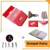 Dompet Kartu Nama / Atm Plastik Motif Cute Ribbon (Isi 12 Kartu) Yc4
