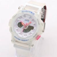 Jual DG2099 Transparant Jam Tangan Digitec Dual Time Tali Rubber Original Murah