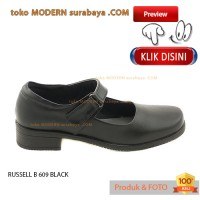 NO 41 RUSSELL B 609 BLACK sepatu wanita pantovel formal slip