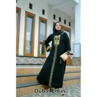 ABAYA DUBAI EMAS FREE PASMINA / GAMIS / JUBAH / BAJU PESTA