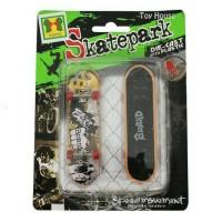 Mainan Skateboard Finger - Skatepark mini - Diecast Skate board tangan