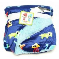 Jual BABY GROW Selimut Bayi / Baby Blanket Double Fleece - Animal Ocean Murah