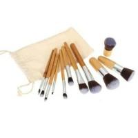 Kabuki Bamboo 11pcs witg pouch free sponge puff