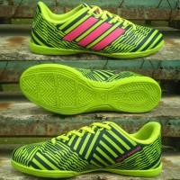 Sepatu Futsal Adidas Nemeziz 17 Hijau-Hitam list Pink Grade Ori