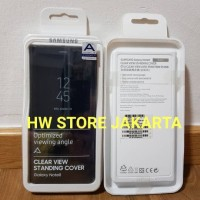 Original Samsung Galaxy Note 8 Clear View Standing Cover - Black