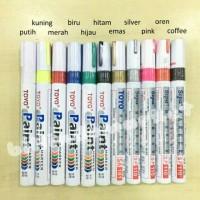Spidol Ban Toyo Paint Marker Untuk Untuk Mobil Motor Dan Sepeda