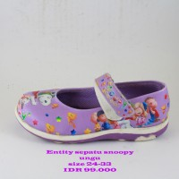 entity snoopy sepatu anak perempuan ungu