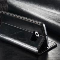 Samsung S7 Wallet Case Premium Leather casing cover bumper armor bagus