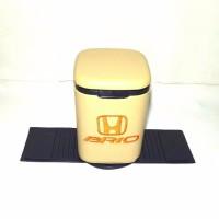 Baru Tempat sampah Kulit Sintetic Mobil Honda Brio Cream