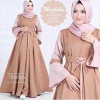 Termurah ! Baju Atasan Pakaian Wanita Gamis Hijabers Marbella Dress Ch