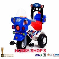 Jual SHP SPM 626 SEPEDA TRICYCLE POLISI / RIDE ON CAR / MOTOR POLISI ANAK Murah