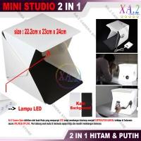 Photo Studio Mini 2 In 1 Dengan Lampu LED White - Cocok Bisnis Online