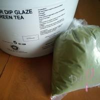 Jual Topping Donat / Elmer Dip Glaze Green Tea 500 gr repack Murah