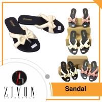 Sandal Kulit Pita Wanita Sendal Flat Shoes Shoe Fashion