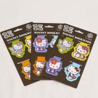 Pembatas Buku Magnet Magnetic Bookmark Doraemon dan Hello Kitty