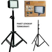 Jual Paket LED 160 Video Lighting-lampu studio foto murah Light stand Murah