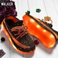 Jual [W063] Black Led Shoe SEPATU LAMPU MURAH  LED SHOES Import Murah Murah