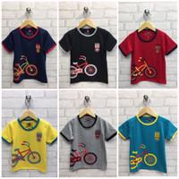 Kaos Anak Laki Gambar Sepeda (untuk usia 1-5 tahun)