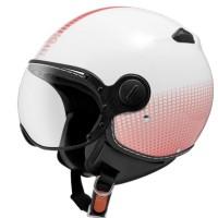 zeus 210 white pink putih helm retro bogo pilot M L XL