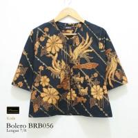 Jual Risna Batik BRB056 Bolero Cardigan Exclusive Trikot Hitam M L XL XXL Murah