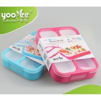 Kotak Makan Lunch Box Yooyee 3 Sekat / Grid Leak Proof / Anti Bocor