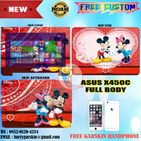 Original Garskin Laptop Full Body Asus X450C Motif Mickey Mouse