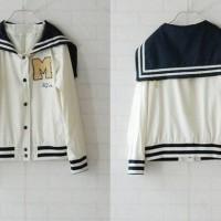 jaket sailor SeraFuku Varsity white