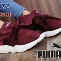Sepatu Sandal Wanita   Sepatu Kets Replika Puma Bow Maroon 418d3e6ac3