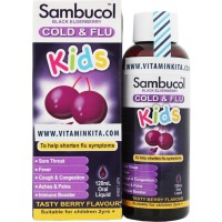Sambucol Cold & Flu For Kids Tasty Berry Flavour (120 Ml)