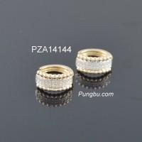 Anting emas dua baris kristal sirkon PZA14144