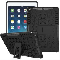 Jual Casing Rugged Armor IPAD AIR 9.7INCH PLUS Kick Stand Soft Case Cover Murah
