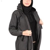 Jaket Panjang Wanita Berhijab Cantik warna MIsty x Black Murah Grosir