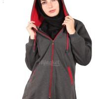 Jaket Panjang Wanita Berhijab Cantik warna MIsty x Red Murah Grosir