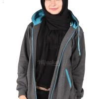 Jaket Panjang Wanita Berhijab Cantik warna MIsty Turkish Murah Grosir