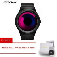 SINOBI Casual Watches for Men Design Geneva Quartz Clock 4178