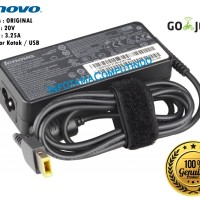 Charger Laptop Lenovo IdeaPad / Yoga 20V - 3,25A USB (SQUARE) Ori