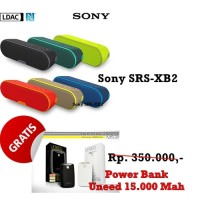 Harga speaker bluetooth sony srs xb2 extra bass free power bank uneed | Pembandingharga.com
